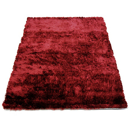 Image for Twinkle Shaggy Red Rug - 80 x 150cm from StoreName
