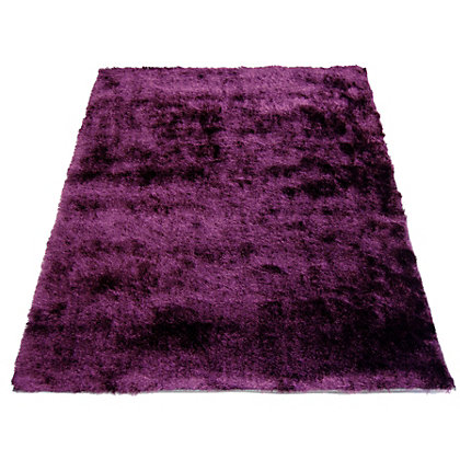 Image for Twinkle Shaggy Purple Rug - 60 x 120cm from StoreName