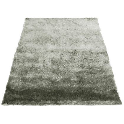 Image for Twinkle Shaggy Silver Rug - 80 x 150cm from StoreName