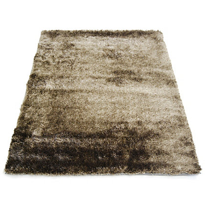 Image for Twinkle Shaggy Chocolate & Latte Rug - 80 x 150cm from StoreName