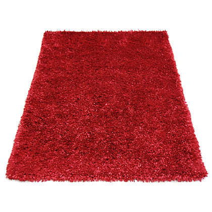 Image for Ribbon Shaggy Red Rug - 120 x 170cm from StoreName