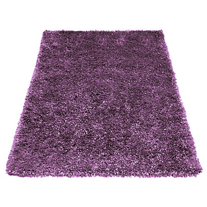 Image for Ribbon Shaggy Purple Rug - 160 x 230cm from StoreName
