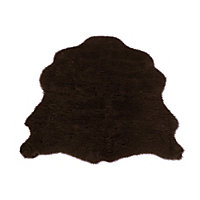 Faux Fur Chocolate Sheep Shape Rug