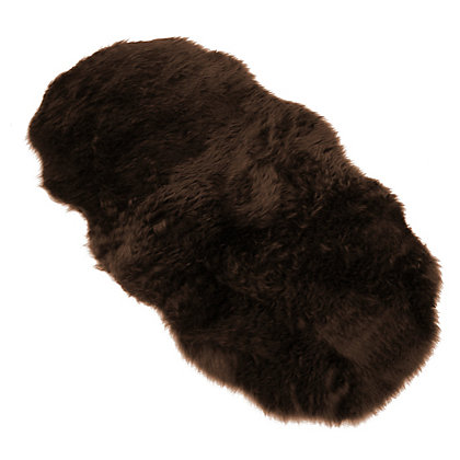 Image for Faux Fur Chocolate Double Shape Rug from StoreName