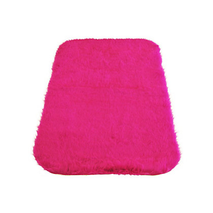 Image for Faux Fur Cerise Oblong Rug from StoreName
