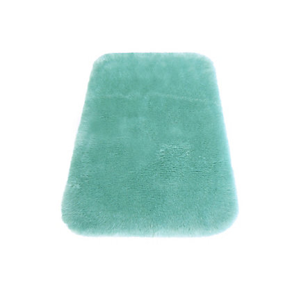 Image for Faux Fur Duck Egg Oblong Rug from StoreName