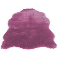Faux Fur Heather Sheep Shape Rug