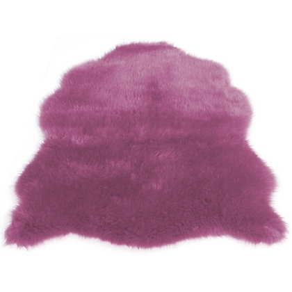Image for Faux Fur Heather Sheep Shape Rug from StoreName