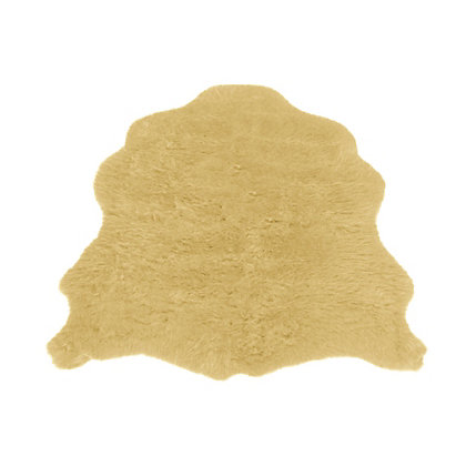 Image for Faux Fur Honey Sheep Shape Rug from StoreName