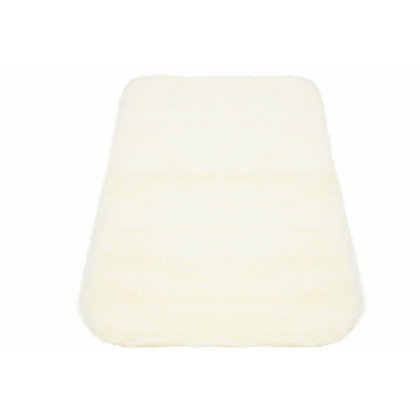 Image for Faux Fur Natural Oblong Rug from StoreName