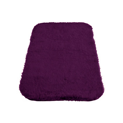 Image for Faux Fur Plum Oblong Rug from StoreName