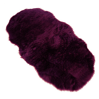 Image for Faux Fur Plum Double Shape Rug from StoreName