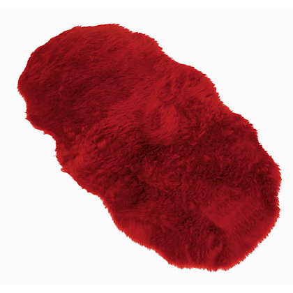 Image for Faux Fur Red Double Shape Rug from StoreName