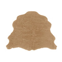 Faux Fur Taupe Sheep Shape Rug