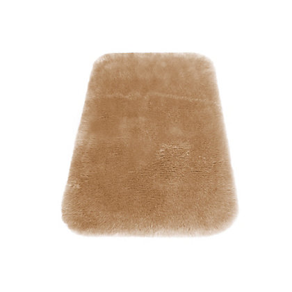 Image for Faux Fur Taupe Oblong Rug from StoreName