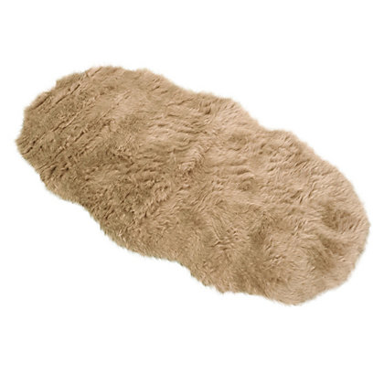 Image for Faux Fur Taupe Double Shape Rug from StoreName