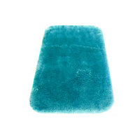 Faux Fur Teal Oblong Rug