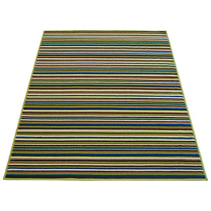 Image for Fine Stripe Green Rug - 80 x 150cm from StoreName