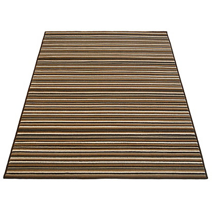 Image for Fine Stripe Brown Rug - 80 x 150cm from StoreName