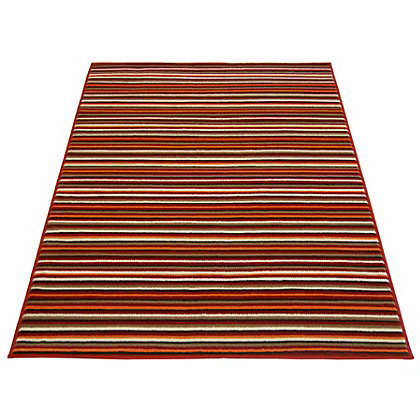 Image for Fine Stripe Red Rug - 80 x 150cm from StoreName