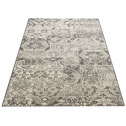 Image for Eternity Damask Grey Rug - 120 x 170cm from StoreName