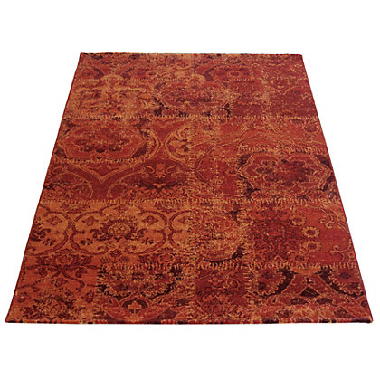 Image for Eternity Damask Red Rug - 80 x 150cm from StoreName