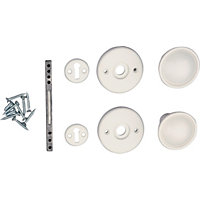 Universal Door Knob - White - 1 Pair