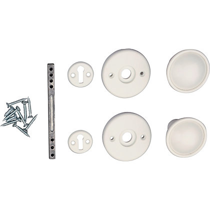 Image for Universal Door Knob - White - 1 Pair from StoreName