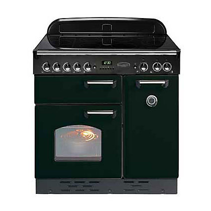 Image for Rangemaster Classic Electric Ceramic Cooker - Black & Chrome from StoreName