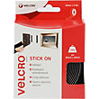 VELCRO® Brand Stick On Tape 20mm x 2.5m -  Black