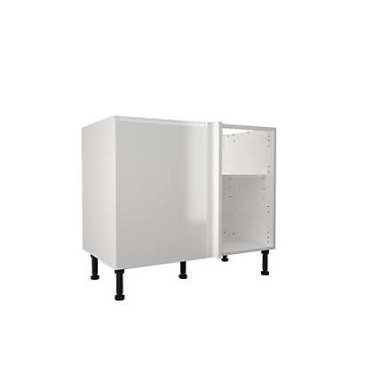 Image for Simply Hygena Kensal White High Line Corner Base Unit - 800mm from StoreName