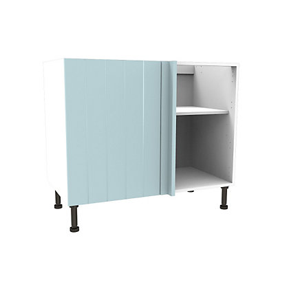 Image for Simply Hygena Turnham Blue Highline Corner Base Cabinet - 800mm from StoreName