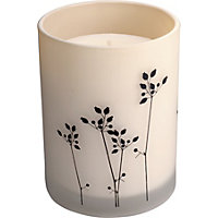Grey Sprig Filled Candle