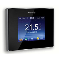 Warmup 4iE Smart WiFi Thermostat Onyx Black - 16A