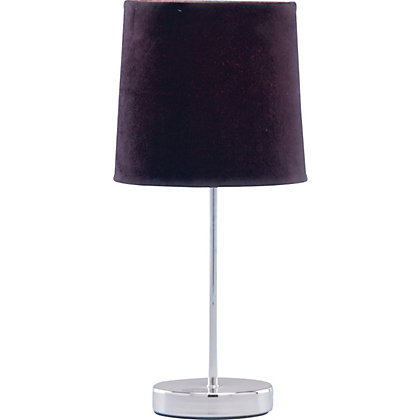 Image for Touch Faux Suede Table Lamp - Chocolate - 39cm from StoreName