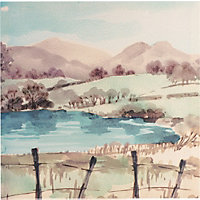 Retreat Watercolour Scene Wall Art