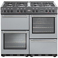 Belling Country Classic 100DF Dual Fuel Range Cooker - Silver.
