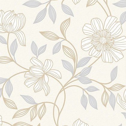 Image for Superfresco Camille White Wallpaper from StoreName