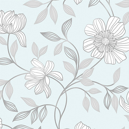 Image for Superfresco Camille Duck Egg Wallpaper from StoreName
