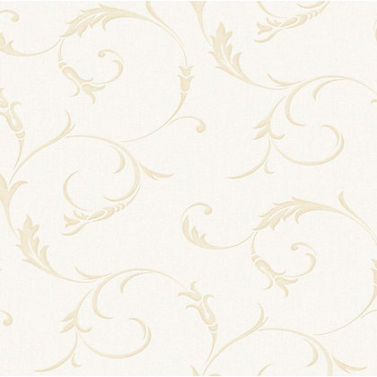 Image for Superfresco Colours Athena Wallpaper - White & Gold from StoreName