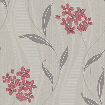 Image for Superfresco Colours Elise Wallpaper - Coral & Grey from StoreName