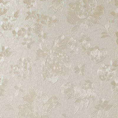 Superfresco Colours Floral Silk Wallpaper - Cream Shimmer