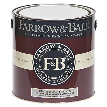 Image for Farrow and Ball Interior Wood Primer Undercoat - White & Light Tones - 2.5L from StoreName