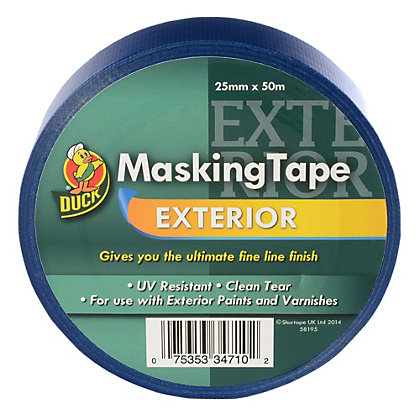 Image for Duck Exterior Masking Tape - 25mm x 50m from StoreName