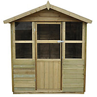 Forest Stroud Overlap Wooden Summer House - 6ft 6in x 6ft 8in