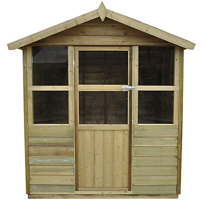 Image for Forest Stroud Overlap Wooden Summer House - 6ft 6in x 6ft 8in from StoreName