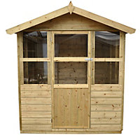 Forest Charlbury Shiplap Wooden Summer House - 6ft 3in x 6ft 8in