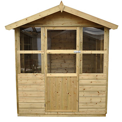Image for Forest Charlbury Shiplap Wooden Summer House - 6ft 3in x 6ft 8in from StoreName