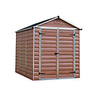 Palram SkyLight Amber Apex Shed - 6ft x 8ft