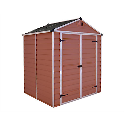 Image for Palram SkyLight Amber Apex Shed - 6ft x 5ft from StoreName